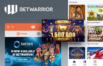 Betwarrior Casino Usabilidade 2