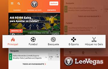 LeoVegas Sport Usabilidade 2