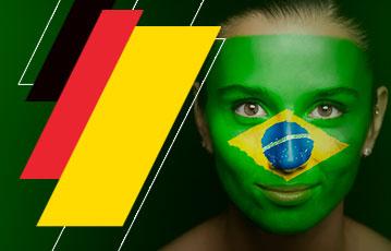 Mulher Bandeira Brasil