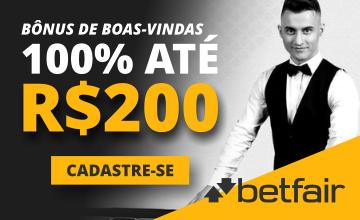 Betfair - Receber o Bônus de 100% até R$200