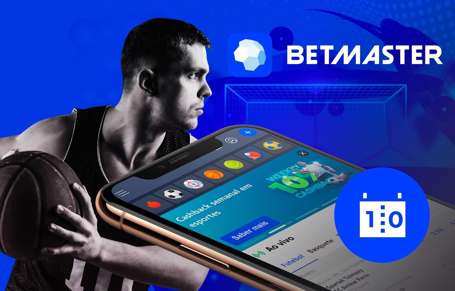 Betmaster smartphone jogador