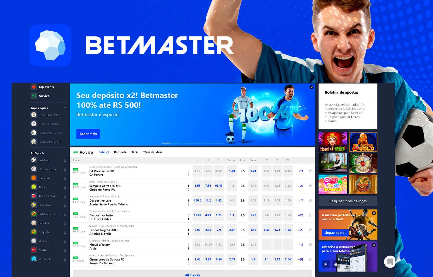 Betmaster homepage