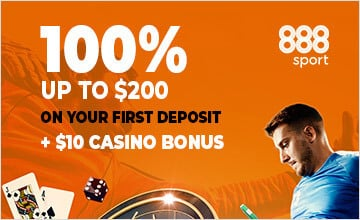 888 - Sign up now and claim the bonus
