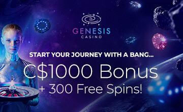 Genesis Casino - Register now and claim your bonus!