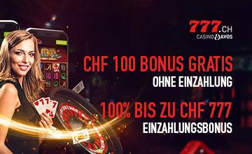 Casino777.ch - Jetzt Casino Bonus sichern!