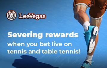 LeoVegas sport tennis