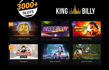 King Billy Casino games