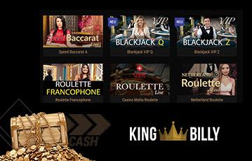 King Billy live Casino