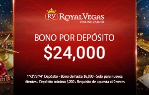 Royal Vegas bono de bienvenida casino online