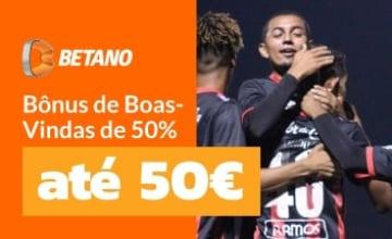 Betano - Receba até 50€ Grátis para Apostar