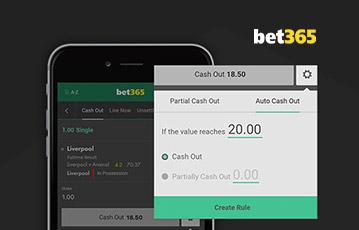 bet365 sport cash out