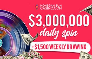 Mohegan Sun Casino Daily Spins
