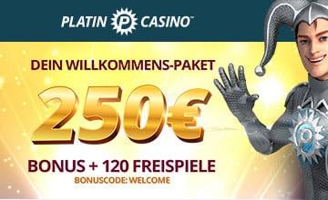 Platin Casino - Jetzt Casino Bonus sichern!