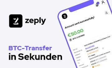 Zeply - Jetzt Bitcoins sichern!