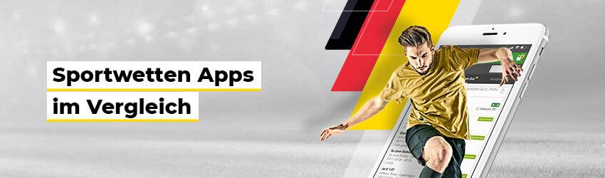 Die besten Online Sportwetten Headline Sportwetten Apps im Vergleich smartphone Fussballspieler
