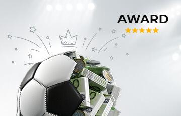 Der beste Sportwettenbonus online Fussball halbiert und gefüllt mit Geldscheinen
