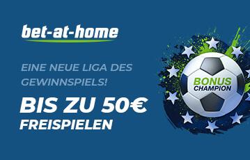 Die besten Online Wetten bet at home bis zu 50 Euro Freispiele Illustration Fussball