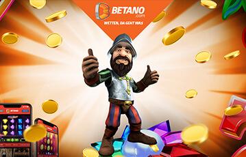 Die besten Online Casino Spiele Betano Illustration Spielfigur Daumen hoch Münzen smartphone