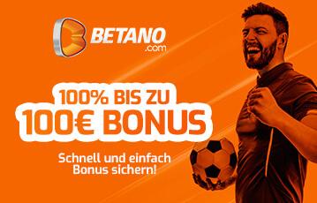Der beste Online Sportbonus Betano 100 Euro Bonus Illustration Fussballspieler