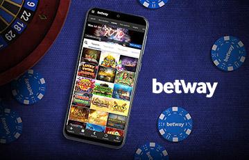 Die besten Online Casino Spiele betway smartphone Bildschirm mit Spieleübersicht auf Pokertisch Pokerchips Roulette