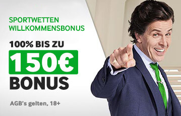 Der beste Online Sportwettenbonus Willkommensbonus 150 Euro Illustration Mann Abraham Lincon Pose