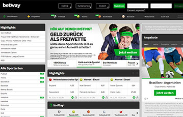 Die besten Online Sportwetten betway sport screenshot overview