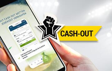 Die besten Online Sportwetten Hand mit smartphone Bildschirm cash out Wetten jederzeit kaufen Illustration Faust