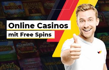 Die besten deutschen Online Casino Spiele free spins Mann zeigt Daumen hoch
