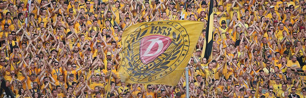 Die besten Online Sportwetten Fussballfans im Stadion Dynamo Dresden zweite Liga