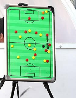 Die besten Online Sportwetten whiteboard Fusballfeld Strategie rot gelb Magnete Fussballfeld