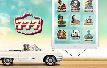 Die besten Online Casino Apps Spieleautomat 777 Illustration Auto auf highway Straßenschild Spieleübersicht