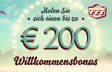 Der beste Online Casino Bonus 777 200 Euro Willkommensbonus banner