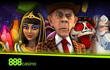 Die besten Casino Online Spiele 888 Casino Illustration Spielefiguren Kleopatra mexikanischer Totenkopf sherlock holmes