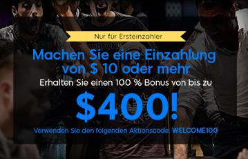 Der beste Online Pokerbonus 888 Poker Männer jubeln am Pokertisch 400 Dollar Bonus bei Einzahlung