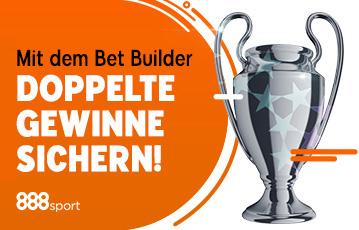 Die besten Online Sportwetten bet builder Illustration silberner Pokal call to action doppelte Gewinne sichern