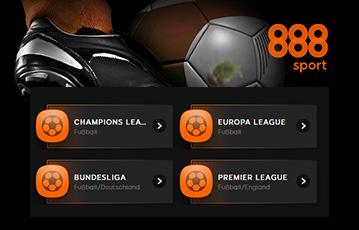 Die besten Online Sportwetten Fussball und Ansicht Wettenangebot Auswahl 888 sport