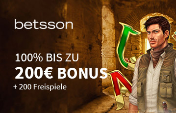 Der beste Online Casino Bonus betsson call to action Bonus bis zu 200 Euro Illustration Spielecharakter