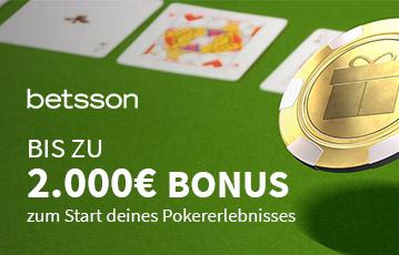 Der beste Online Pokerbonus betsson call to action bis zu 2000 Euro Bonus Illustration Pokertisch Pokerkarten Pokerchip
