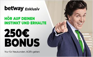 Betway - Jetzt Bonus sichern!