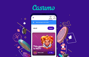 Die besten Online Casino Spiele mobil smartphone screen casumo Illustrationen Pokerchips Pokerkarten