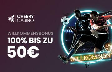 Die besten Online Casino Spiele Sportwetten Willkommensbonus bis zu 50 Euro Fussballspieler in Aktion