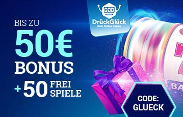 Der beste Online Casino Bonus call to action 50 Euro Bonus 50 Freispiele Illustration Geschenk Walze drückglück