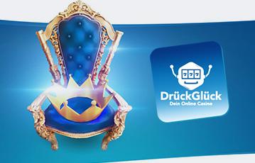 Die besten Online Casino Spiele drückglück Illustration Krone auf Thron