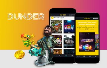 Die besten Onine Casino Spiele Apps zwei smartphone screen Spieleauswahl Spielecharaktere Fisch Vogel Ritter Münze