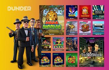 Die besten Online Casino Spiele Spieleauswahl bei dunder Spielecharaktere in 3D