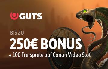 Der beste Casino Online Bonus guts bis zu 250 Euro Bonus Illustration Spielecharakter Schlange Kobra Schutzschild