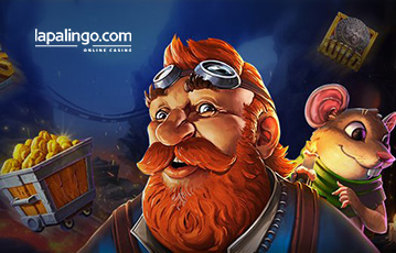 DIe besten Online Casino Spieleautomaten lapalingo Illustration Spielecharaktere Miene Bergwerk Gold
