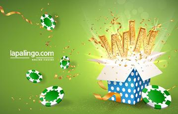 Die besten Online Casino Spiele lapalingo Illustration Geschenk Überraschung Gewinn Pokerchips