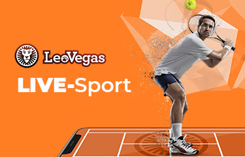 Die besten Online Sportwetten leovegas Live-Sport Tennisspieler im Spiel Blick auf Tennisball