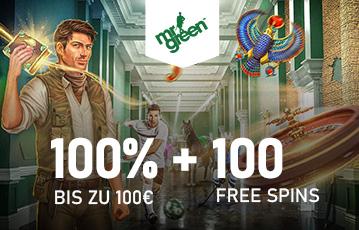 Der beste Online Casino Bonus 100 Euro und 100 freesoins Illustration Spielecharaktere Fussballer Vogel Roulette